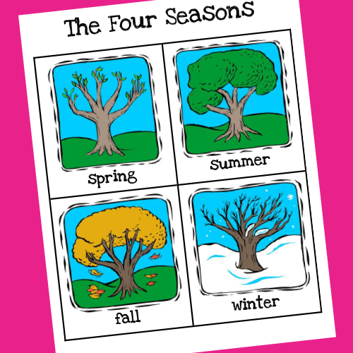 Seasons Poster Printable