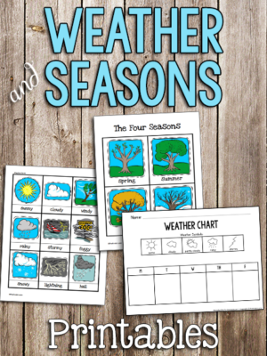 Weather & Seasons Printable Cards