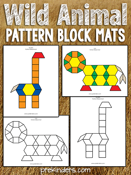 Wild Animal Pattern Block Mats