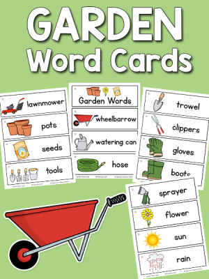 Garden Picture-Word Cards