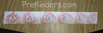 Letter Stamp Game: alphabet letter identification activities