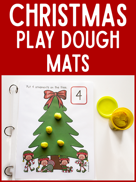 Christmas Tree Play Dough Math Mats