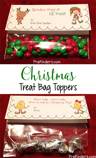 9ef29073408e Christmas Treat Bag Toppers - PreKinders