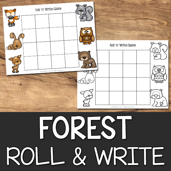 Forest Roll & Write Game