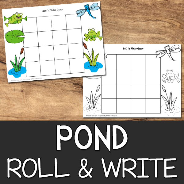Pond Roll & Write Game Printable