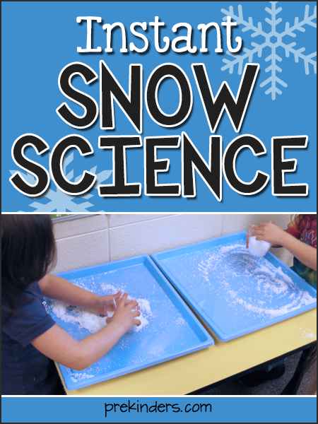 Instant Snow Science for Pre-K, Preschool