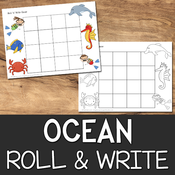 Ocean Roll & Write Game Printable