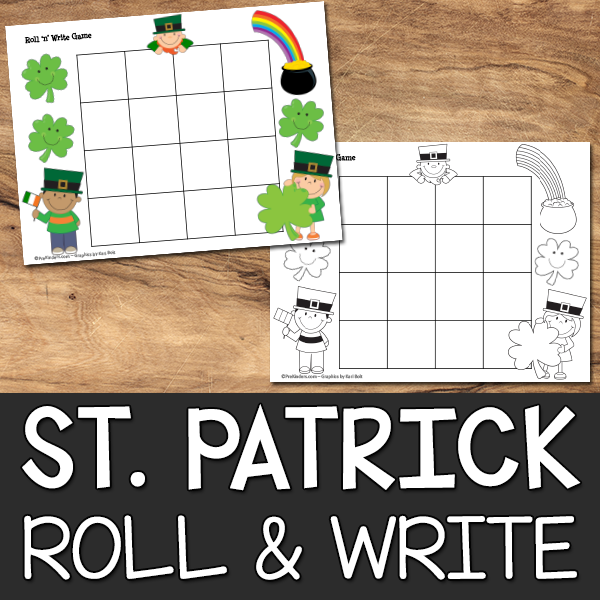 St Patricks Roll & Write Game Printable