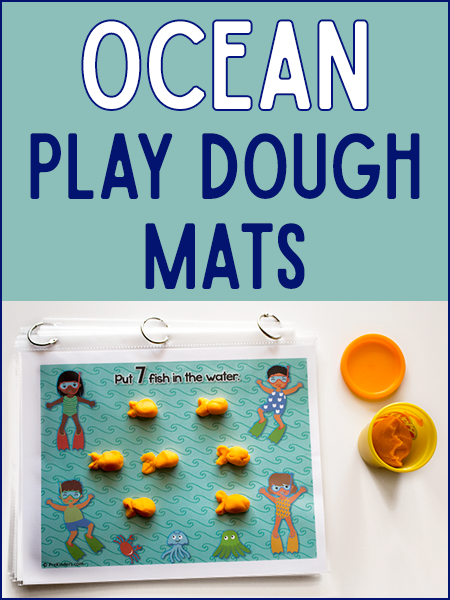 Ocean Play Dough Counting Mats