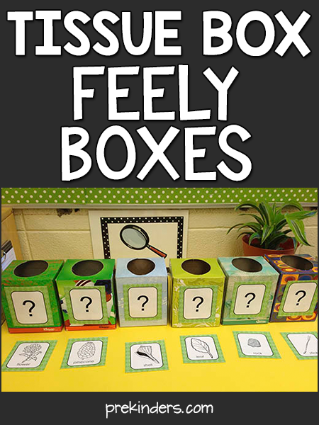 Tissue Box Feely Boxes: Teach with Trash