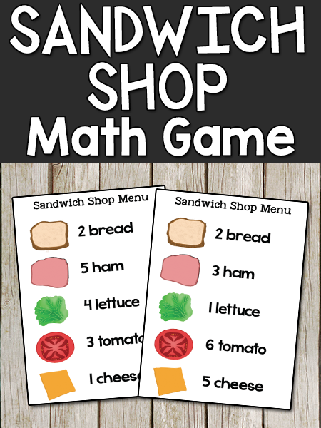 Sandwich Shop Math Game