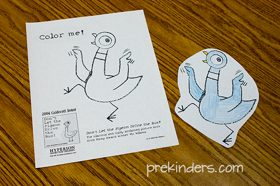 coloring sheet for the pigeon math game