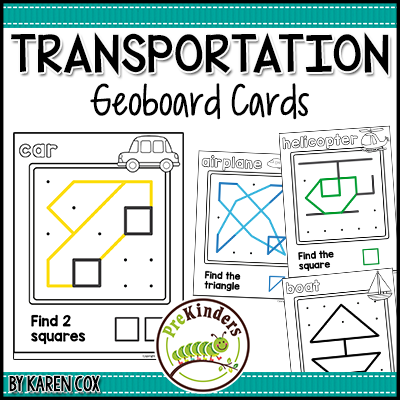 TPT Geoboards Transportation
