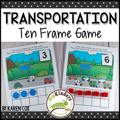 TPT Transportation Ten Frame