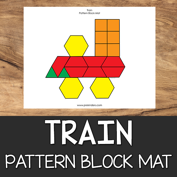 Train Pattern Block Mat
