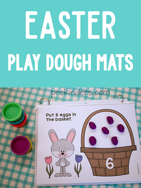 Easter Play Dough Math Mats