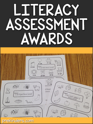 Literacy Assessment Awards printables