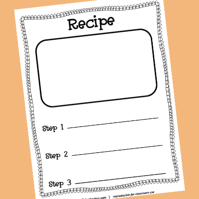 Recipe Card Printable for Kids