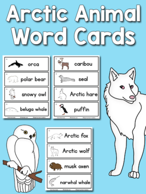 Arctic Animal Picture-Word Cards
