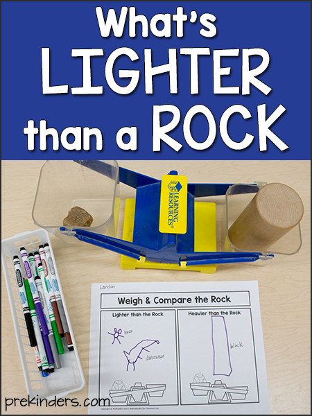 What's Lighter than a Rock? science experiment for preschool kids