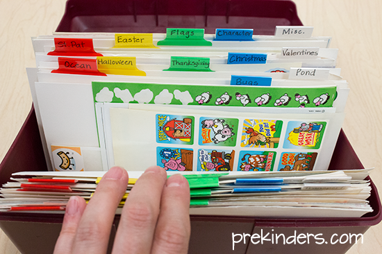 Sticker Storage for Teachers