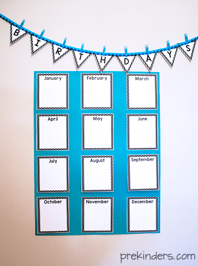 Birthday Crown Certificate Chart PreKinders