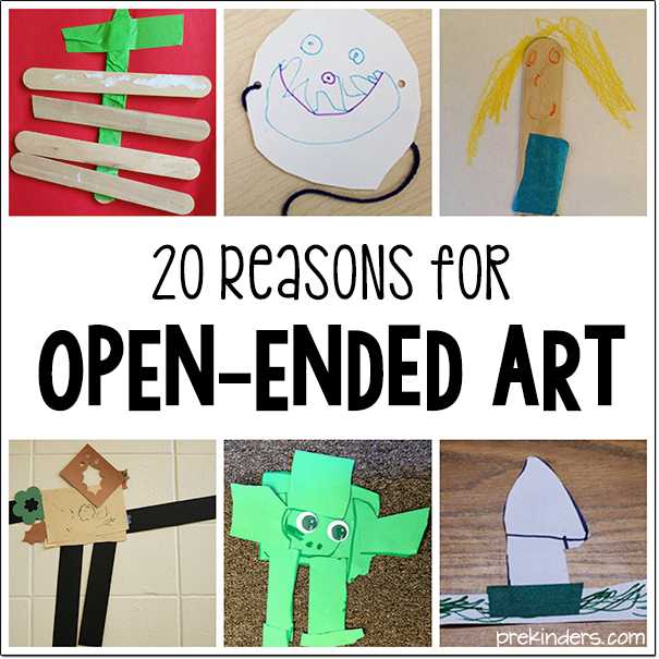20 Reasons for Open Ended Art