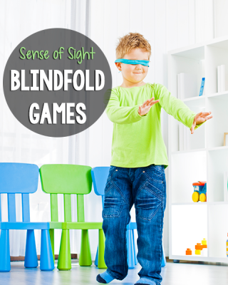 Blindfold Games to Teach the 5 Senses