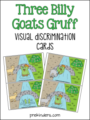 Billy Goats Gruff Visual Discrimination