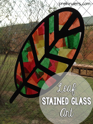 Leaf Stained Glass Art