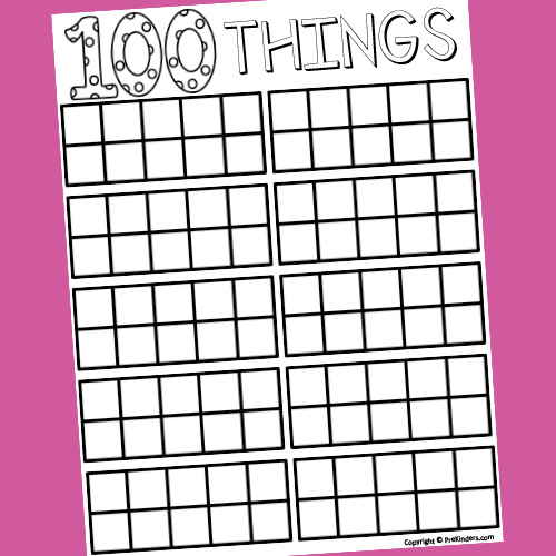 photograph about 100 Day Countdown Printable referred to as 100 Times of University in just Pre-K - PreKinders