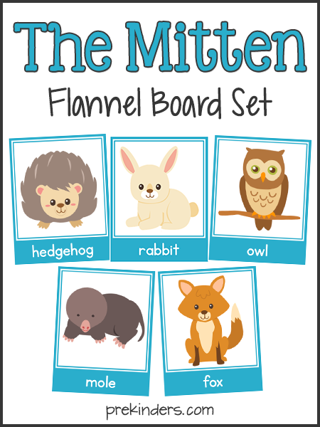 The Mitten: Story Sequencing & Flannel Board Cards