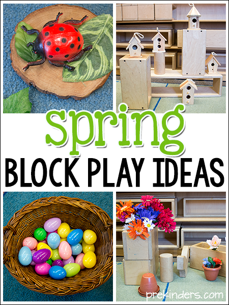 Spring Block Center Play Ideas in Preschool