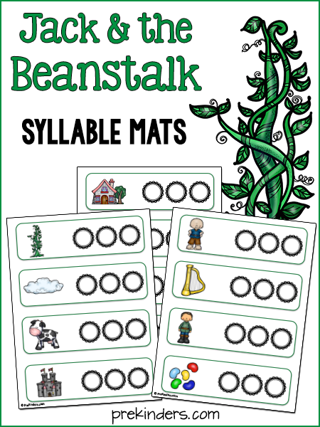 jack and the beanstalk syllable activity prekinders. Black Bedroom Furniture Sets. Home Design Ideas