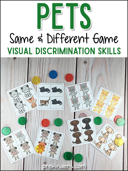 Pets Same & Different Visual Discrimination Game