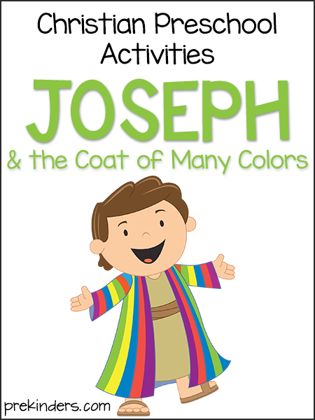 Joseph & Coat of Many Colors Christian Preschool Activities