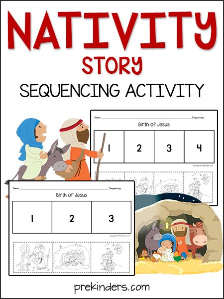 Jesus' Birth (Nativity Story) Sequencing Activity