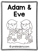 Adam and Eve Print & Fold Book