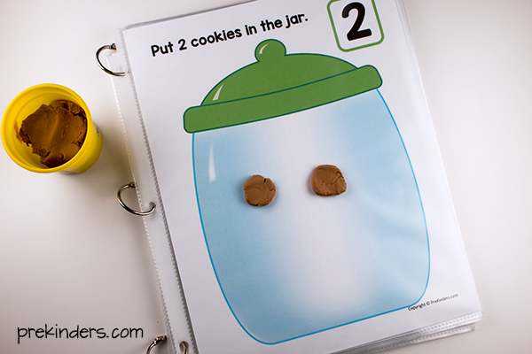 Cookie Jar Play Dough Mats