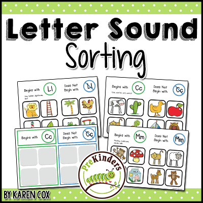 photograph relating to Letter Recognition Games Printable identified as Studying Letter Seems - PreKinders
