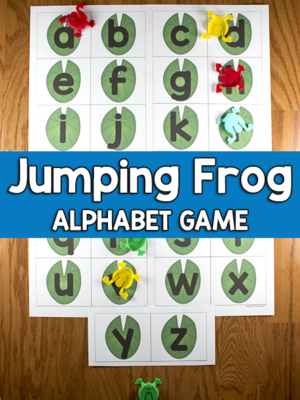 Jumping Frog Alphabet Game