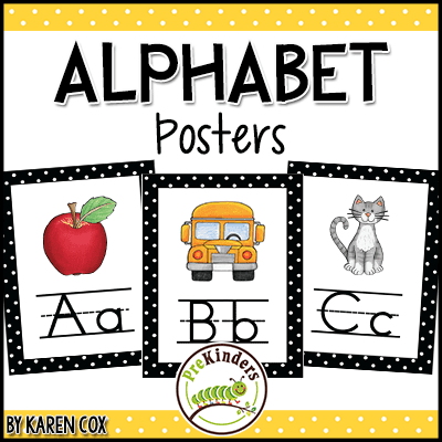photograph regarding Printable Abc Letters identified as Alphabet Printables for Pre-K, Preschool, Kindergarten