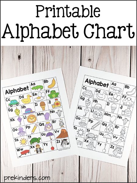 picture regarding Free Printable Alphabet Chart called Alphabet Printables for Pre-K, Preschool, Kindergarten