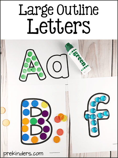 Printable Large Letter Outlines