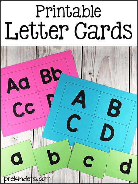 graphic regarding Printable Letter Cards named Alphabet Printables for Pre-K, Preschool, Kindergarten