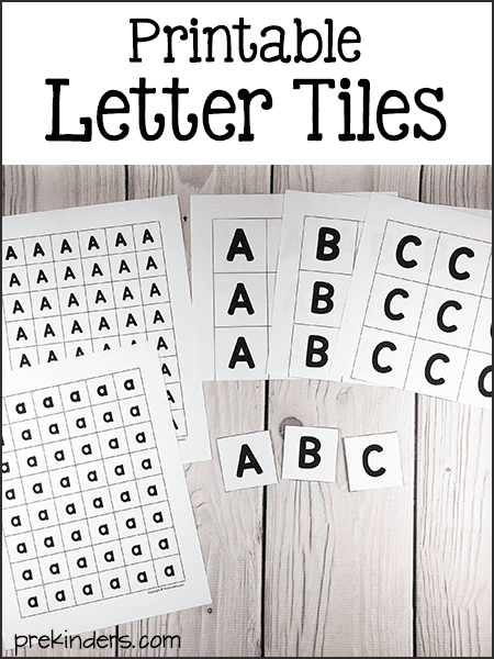 picture relating to Letter Tiles Printable named Alphabet Printables for Pre-K, Preschool, Kindergarten