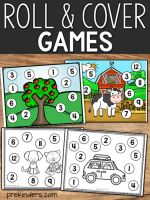 roll and cover games for math