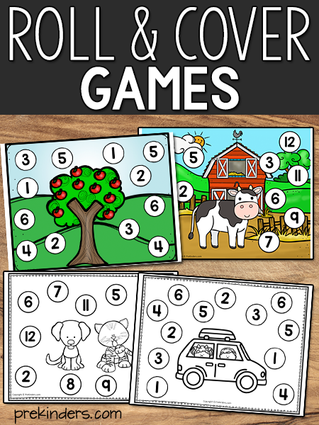 Roll and Cover Games Printables