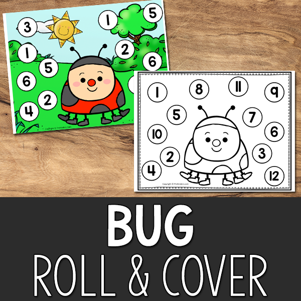 Bugs Roll and Cover Printable