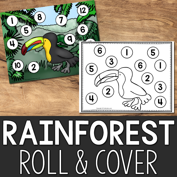 Rainforest Roll & Cover Game